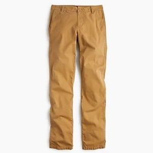 NWT J.Crew Tall straight leg pant in stretch chino